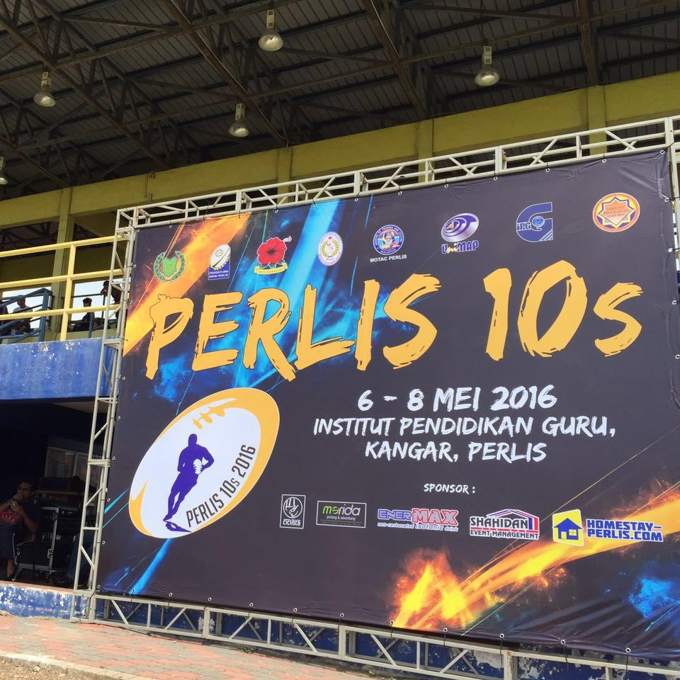 Backdrop for Perlis Ragbi 10s 2016