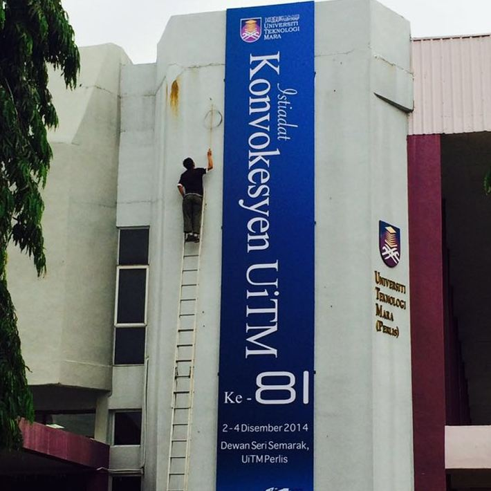 Banner for UiTM Perlis convocation