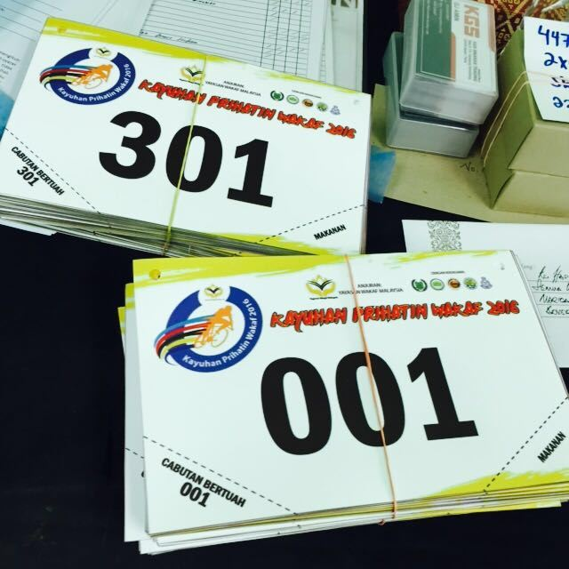 Bib number for Kayuhan Prihatin Wakaf 2016
