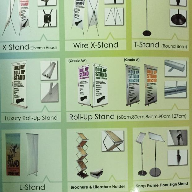 Various types of stand